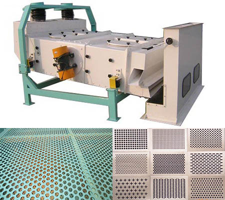 Self-balanced vibration sieve wheat seed cleaner