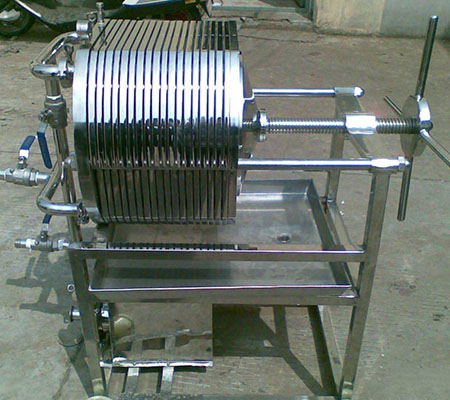 SS mobile filter press small filter press filter