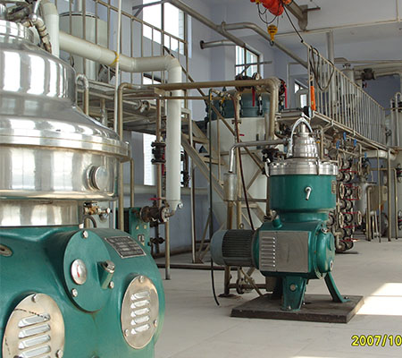 50TPD physical continuous palm oil refinery plant