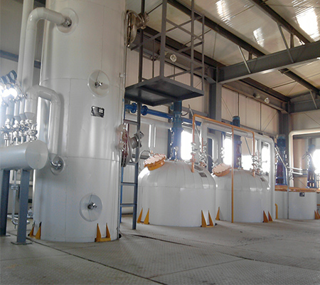 Sunflower oil refining machine 30T crude oil refinery