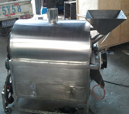 Stainless steel gas fired small coffee roaster