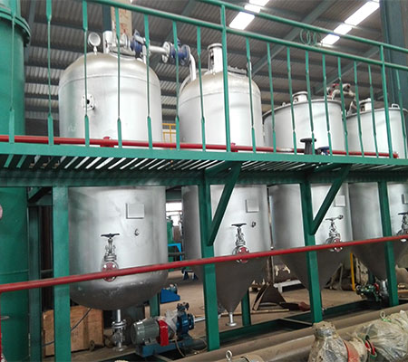 CE quality cottonseed vegetable oil refinery equipment