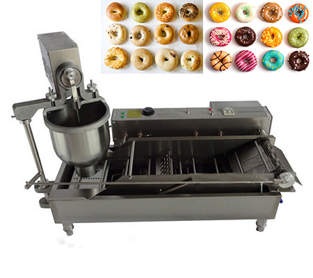 Electric heat automatic donut making machine 450 pieces per hour donut maker