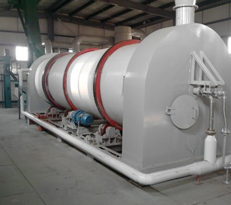 Horizontal softening pot grain dryer