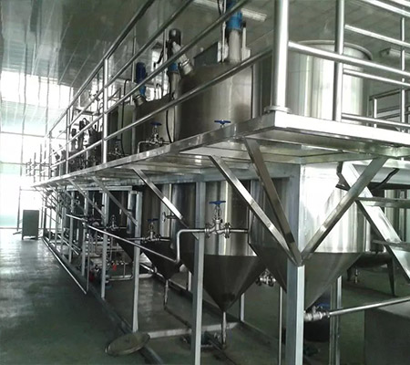 8TPD crude palm oil refinery CE palm oil refinery plant